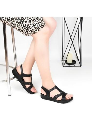Pandora Hy7040 Ortapedik Deri Bayan Günlük Sandalet Taba